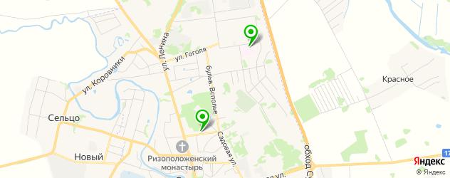 больницы на карте Суздаля