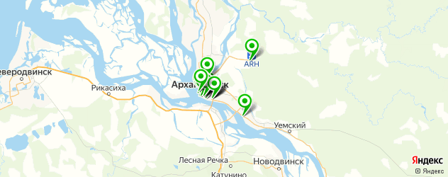 музеи на карте Архангельска