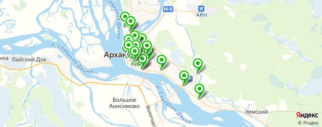 тренажерные залы на карте Архангельска