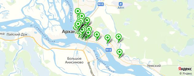 Спорт и фитнес на карте Архангельска