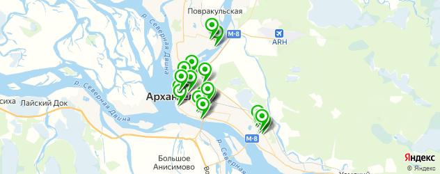 колледжи на карте Архангельска