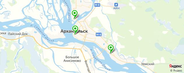 парковки на карте Архангельска