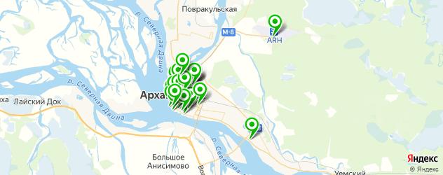 бары на карте Архангельска