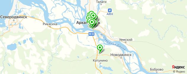 обменные пункты на карте Архангельска