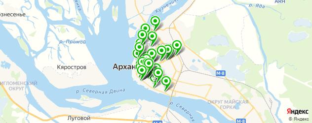 банки на карте Архангельска