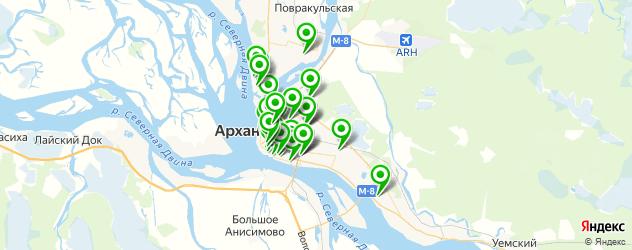 типографии на карте Архангельска