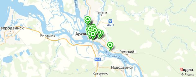 фотостудии на карте Архангельска
