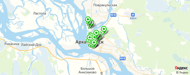 кофейни на карте Архангельска