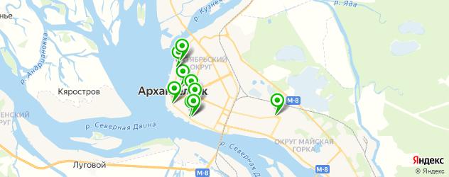 детские стоматологические поликлиники на карте Архангельска