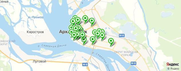 рестораны для свадьбы на карте Архангельска
