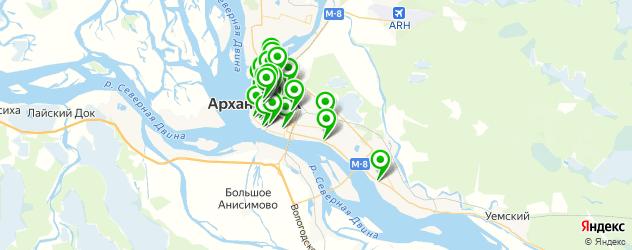 лечение кариеса на карте Архангельска