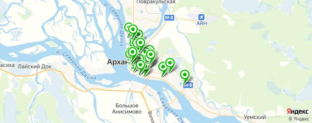 массажные салоны на карте Архангельска