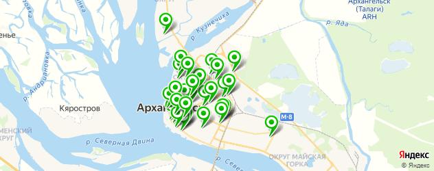 студии маникюра на карте Архангельска