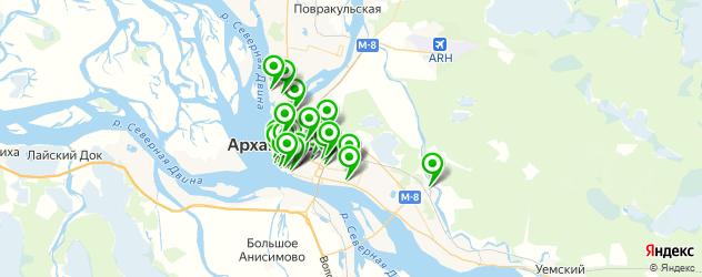 Развлечения на карте Архангельска