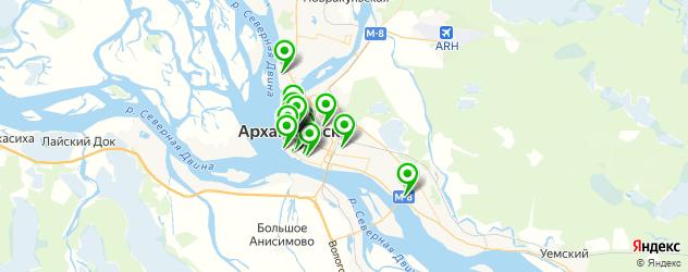 бесплатный Wi-Fi на карте Архангельска
