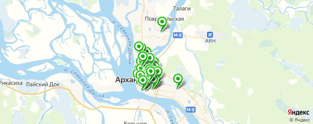 медицинские центры на карте Архангельска