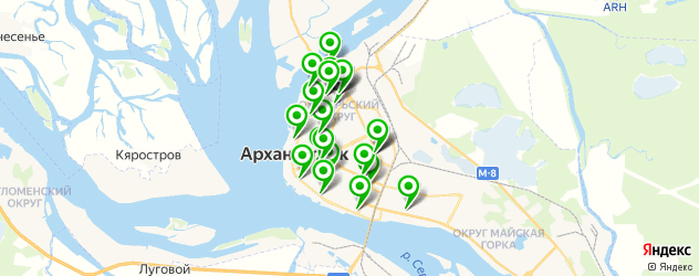 диагностические центры на карте Архангельска