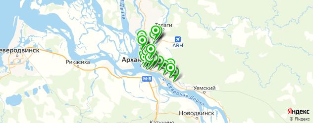 обувные мастерские на карте Архангельска