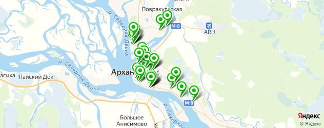 дома быта на карте Архангельска