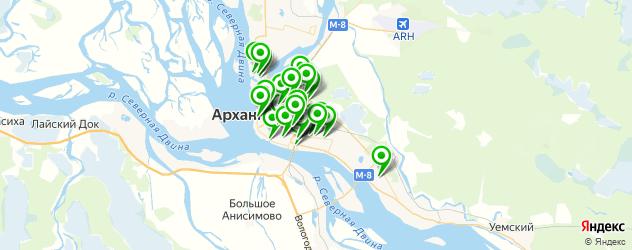 автомойки на карте Архангельска