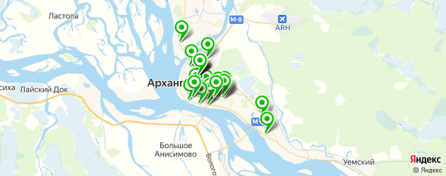 Авто на карте Архангельска