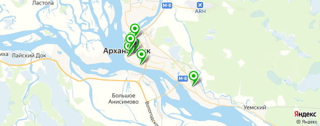 академии на карте Архангельска
