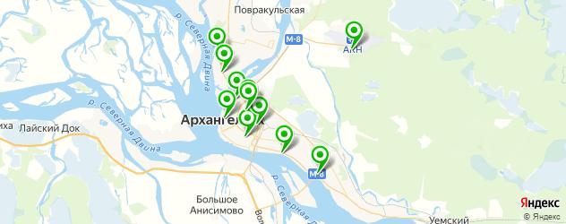 прачечные на карте Архангельска