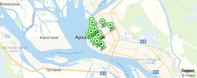 день рождения на карте Архангельска