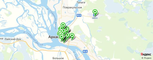 спорты-бары на карте Архангельска