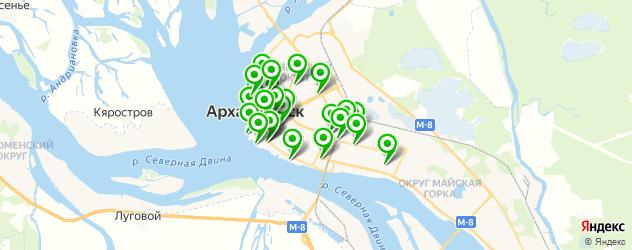 рестораны для дня рождения на карте Архангельска