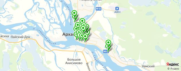 Доставка роллов на карте Архангельска