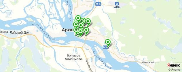 доставка на карте Архангельска