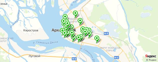 живая музыка на карте Архангельска