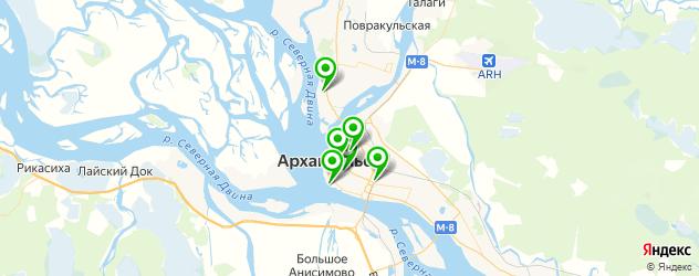 японские рестораны на карте Архангельска