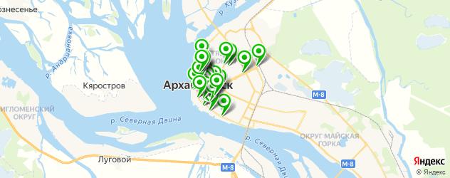 Еда на карте Архангельска