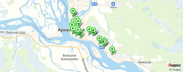 женские фитнес-клубы на карте Архангельска