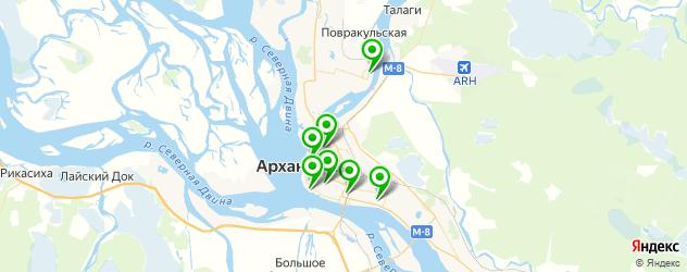 бассейны на карте Архангельска