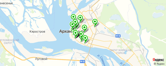 кадровые агентства на карте Архангельска