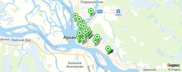 банкоматы с функцией приема наличных на карте Архангельска