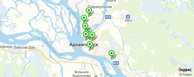 магазины авточехлов на карте Архангельска