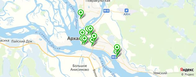 Доставка шашлыка на карте Архангельска