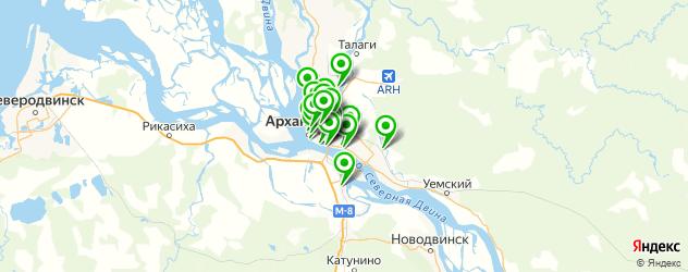 Образование и развитие на карте Архангельска