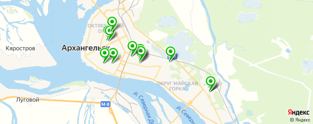 авторазборки на карте Архангельска
