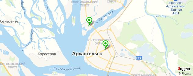 картинные галереи на карте Архангельска