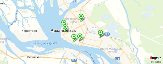 гимназии на карте Архангельска
