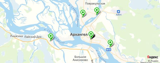 детские больницы на карте Архангельска
