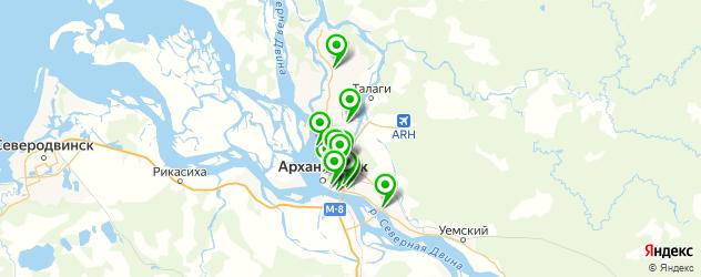 школы танцев на карте Архангельска