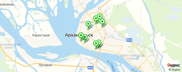 тату салон на карте Архангельска