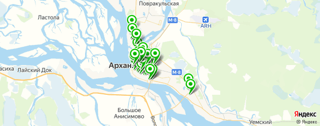салоны бровей на карте Архангельска