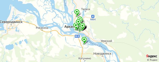 магазины автоаксессуаров на карте Архангельска